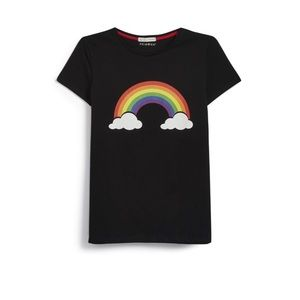 Primark black proud rainbow tee